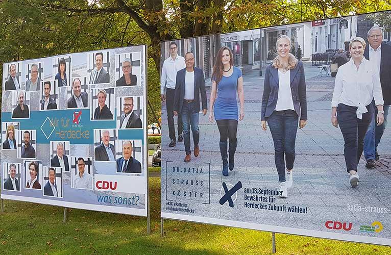 Wahlplakate Wahlkampf